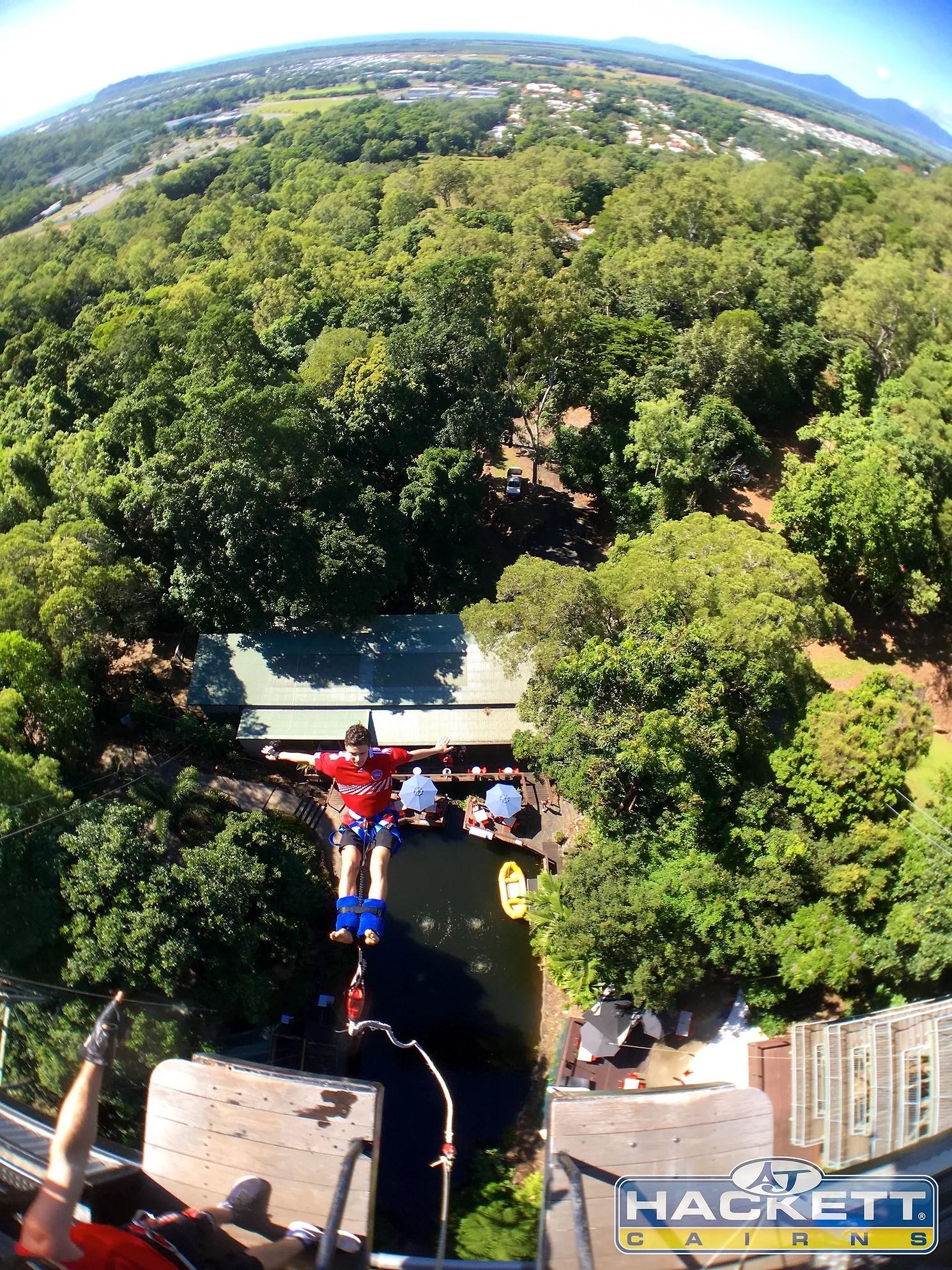 VIDEO: Bungy jump i Australien