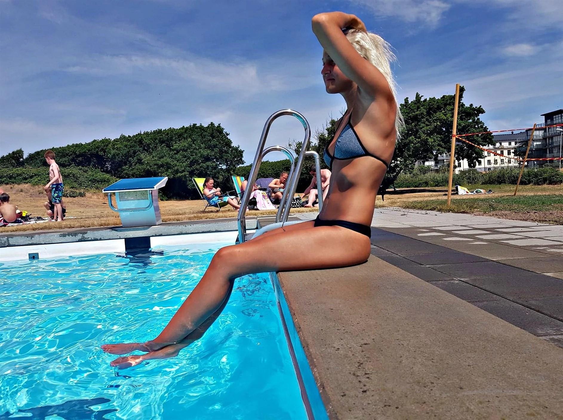 En dag vid poolen -