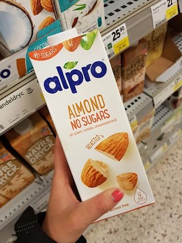 alpro almond no sugars unsweetened