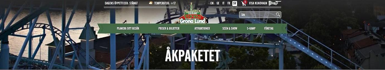 Erbjudande Gröna Lund + Legoland