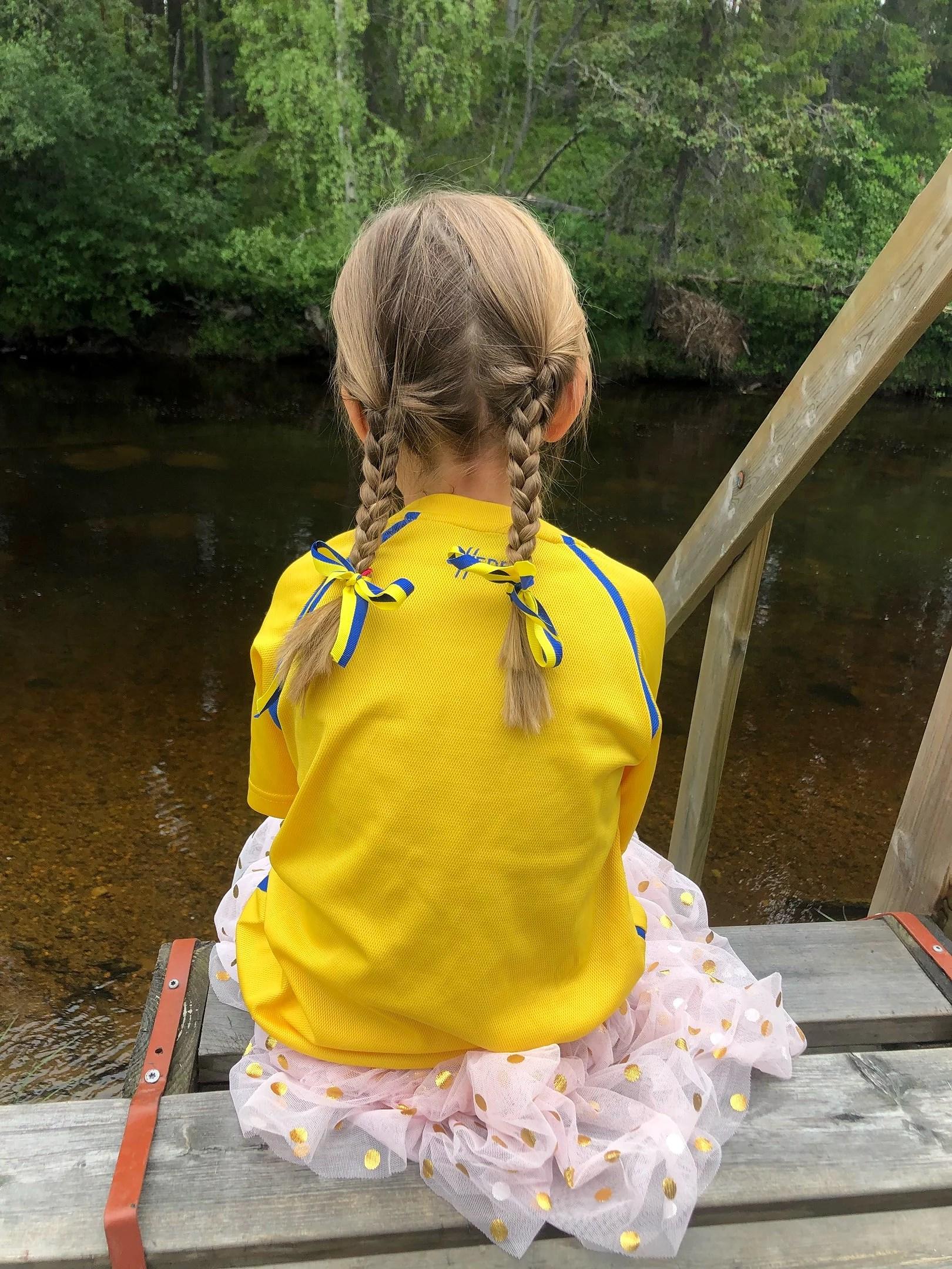 Heja Sverige gul och blå.