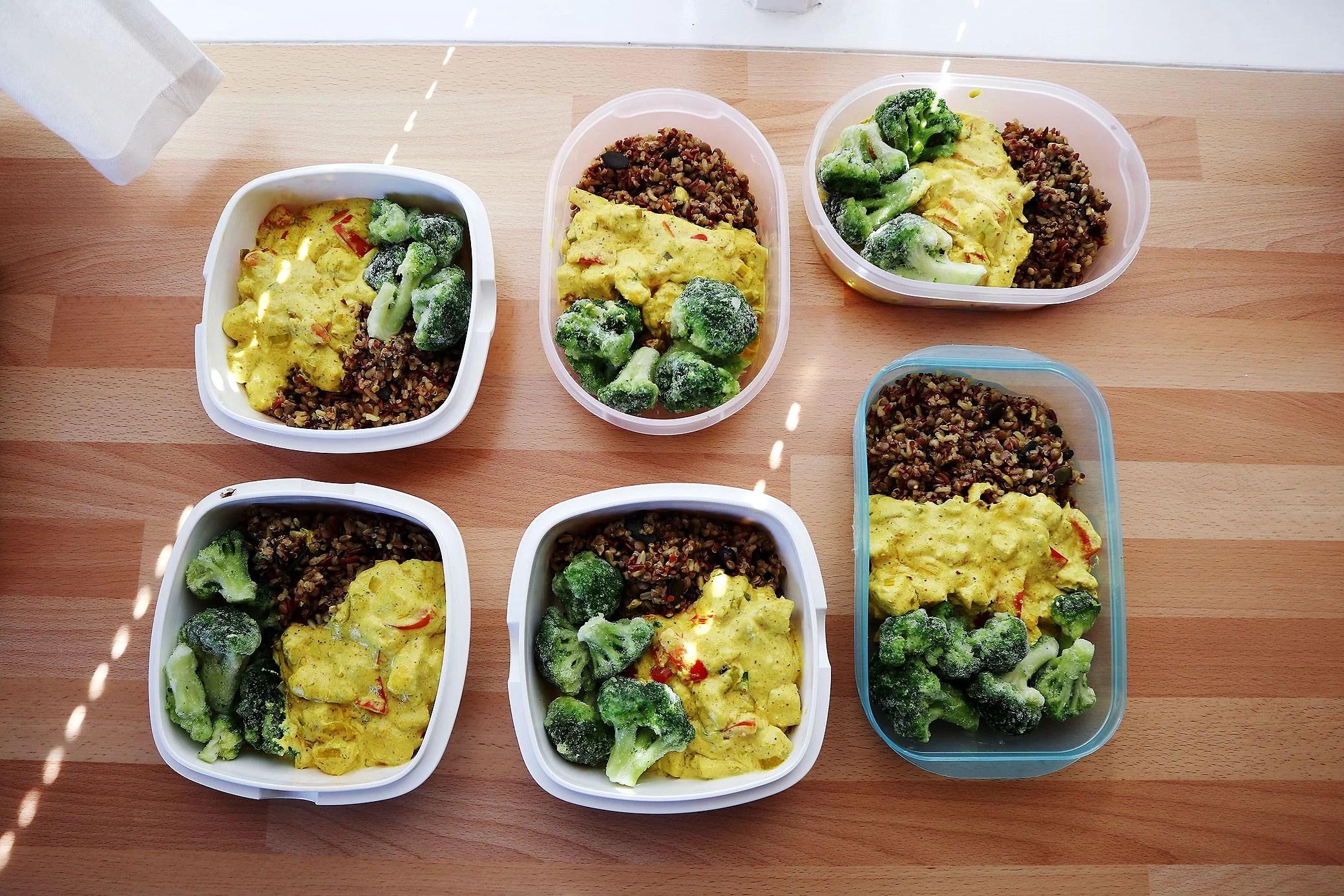 Recept på currykyckling och supermix till matlådor