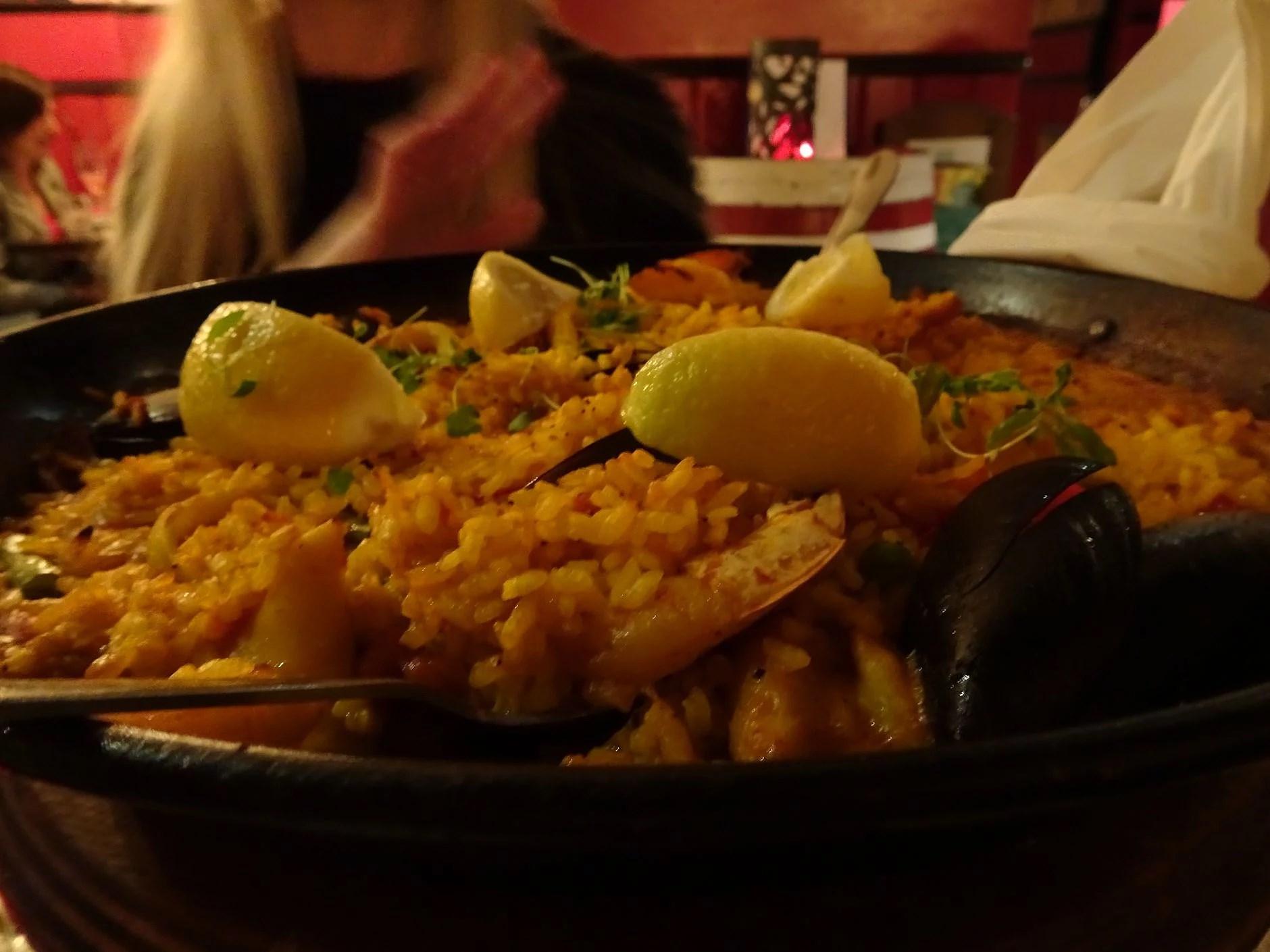 Paella at La Tasca