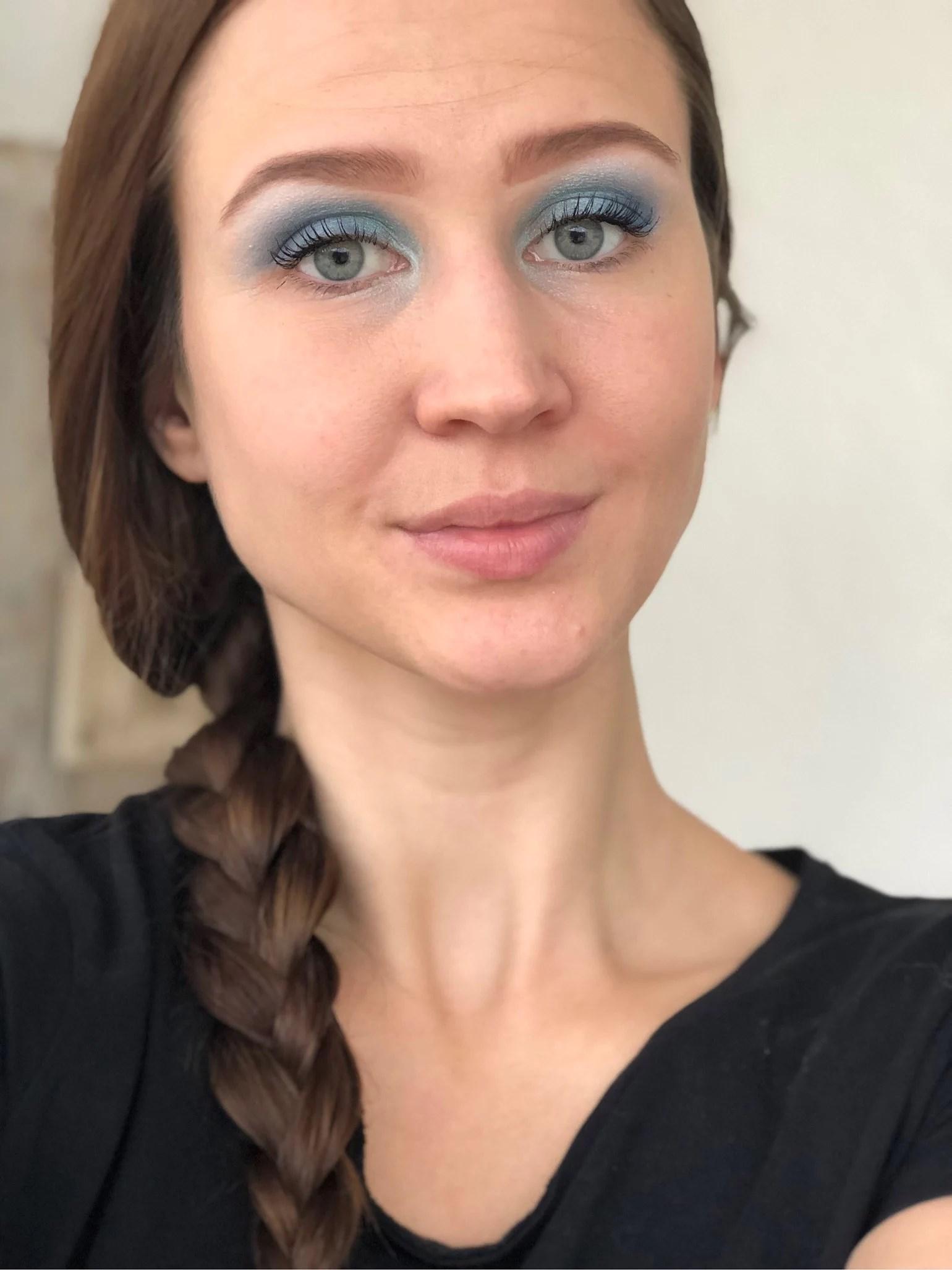 Three shades of blue