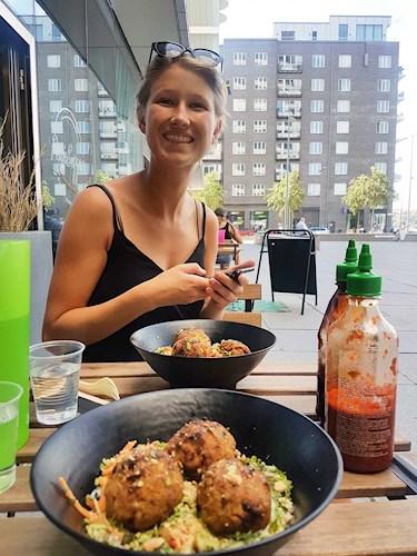 Lunch på Panicsupper, Hornsbergsstrand i Stockholm