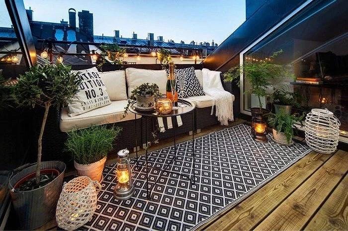 Inreda balkongen