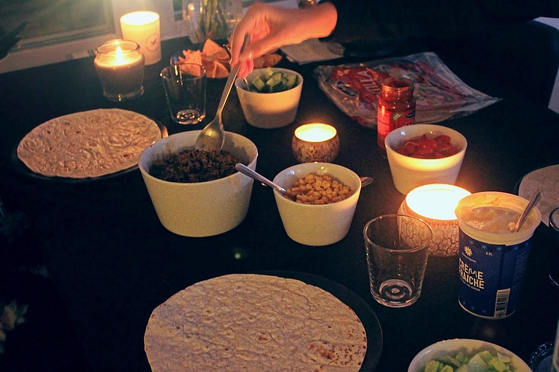 Taco-fredag & Fondue-lördag.
