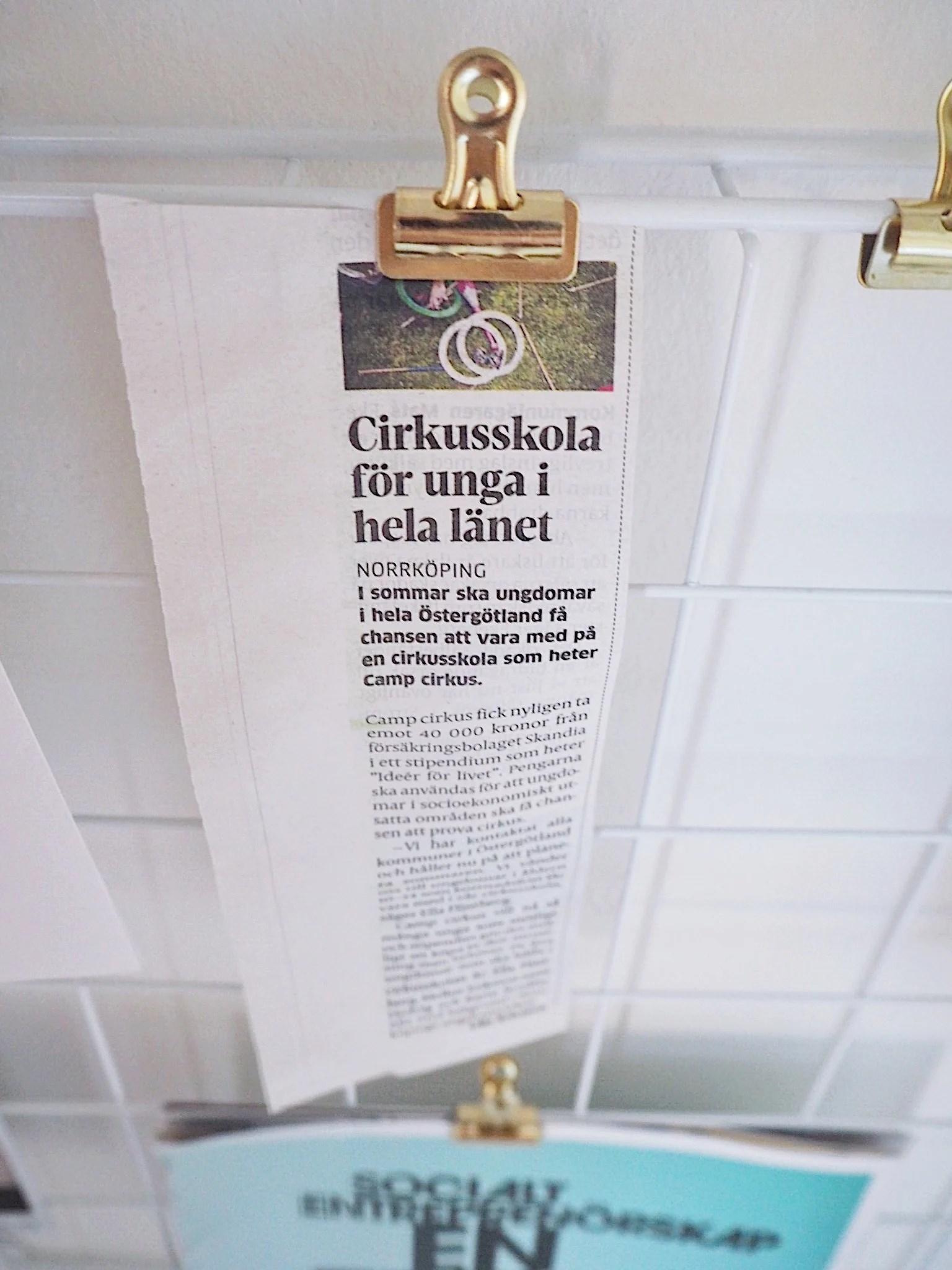 Fin tidningsartikel!