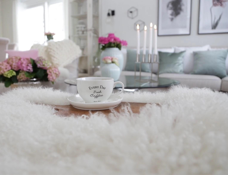 Deilig å nyte en kopp kaffe