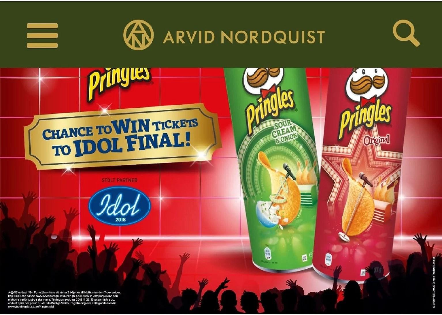 Köp ett Pringles-idolrör och tävla om biljetter till IDOL finalen
