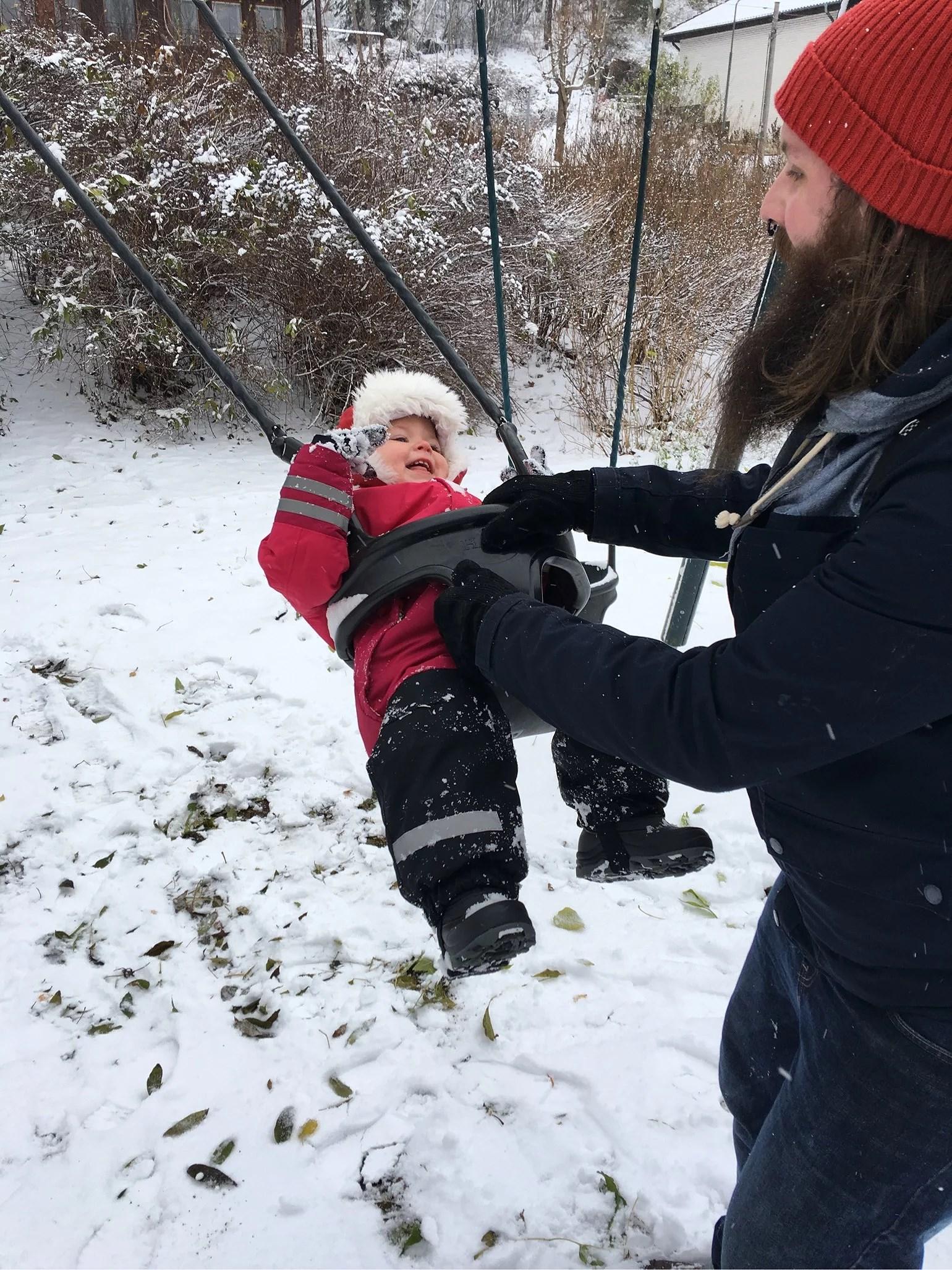 Söndags lek i snön!