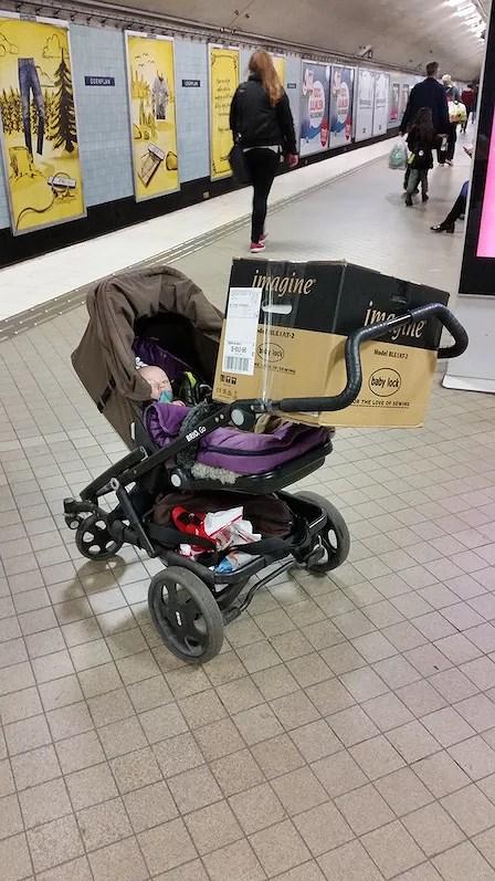 hantera barnvagnen säkert