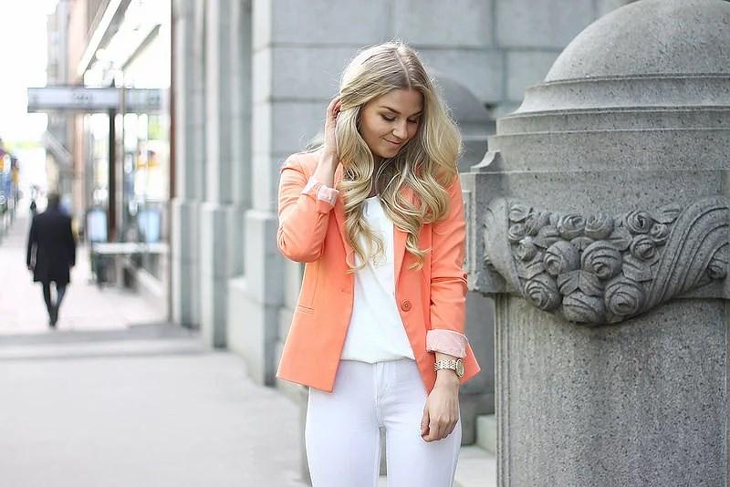 All white and orange