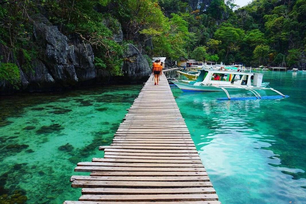 Vrakdyk och snorkling i Coron, Filippinerna