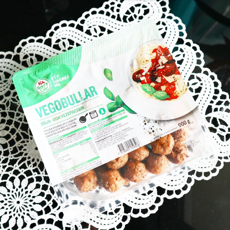 Veganska vegobullar i storpack från Ica Gott Liv