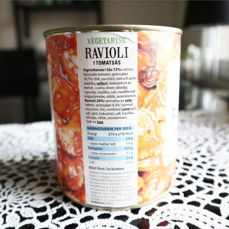 fontana vegansk ravioli