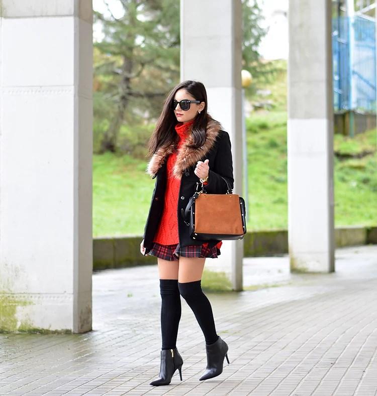 ...Tartan & Black Coat...