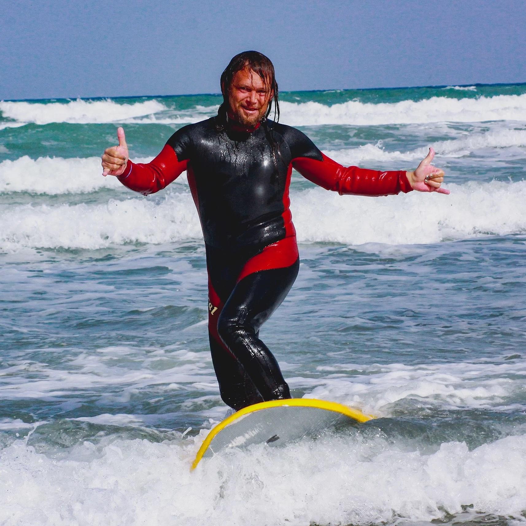 Surfing in La Mata