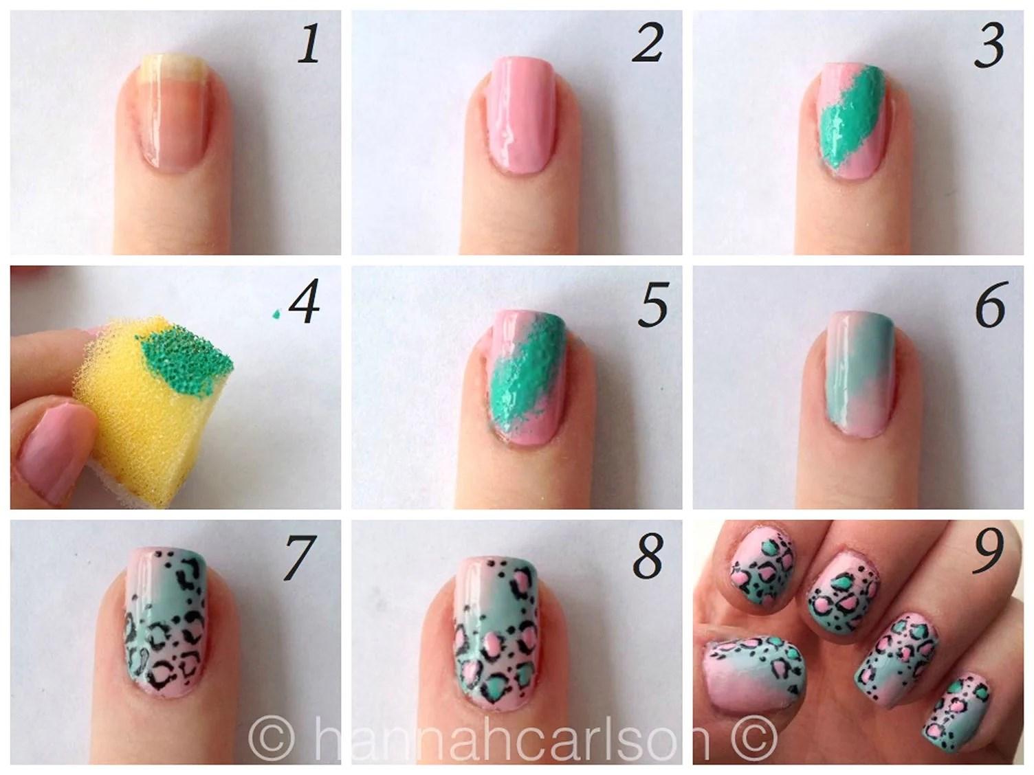 hur gör man ombre naglar
