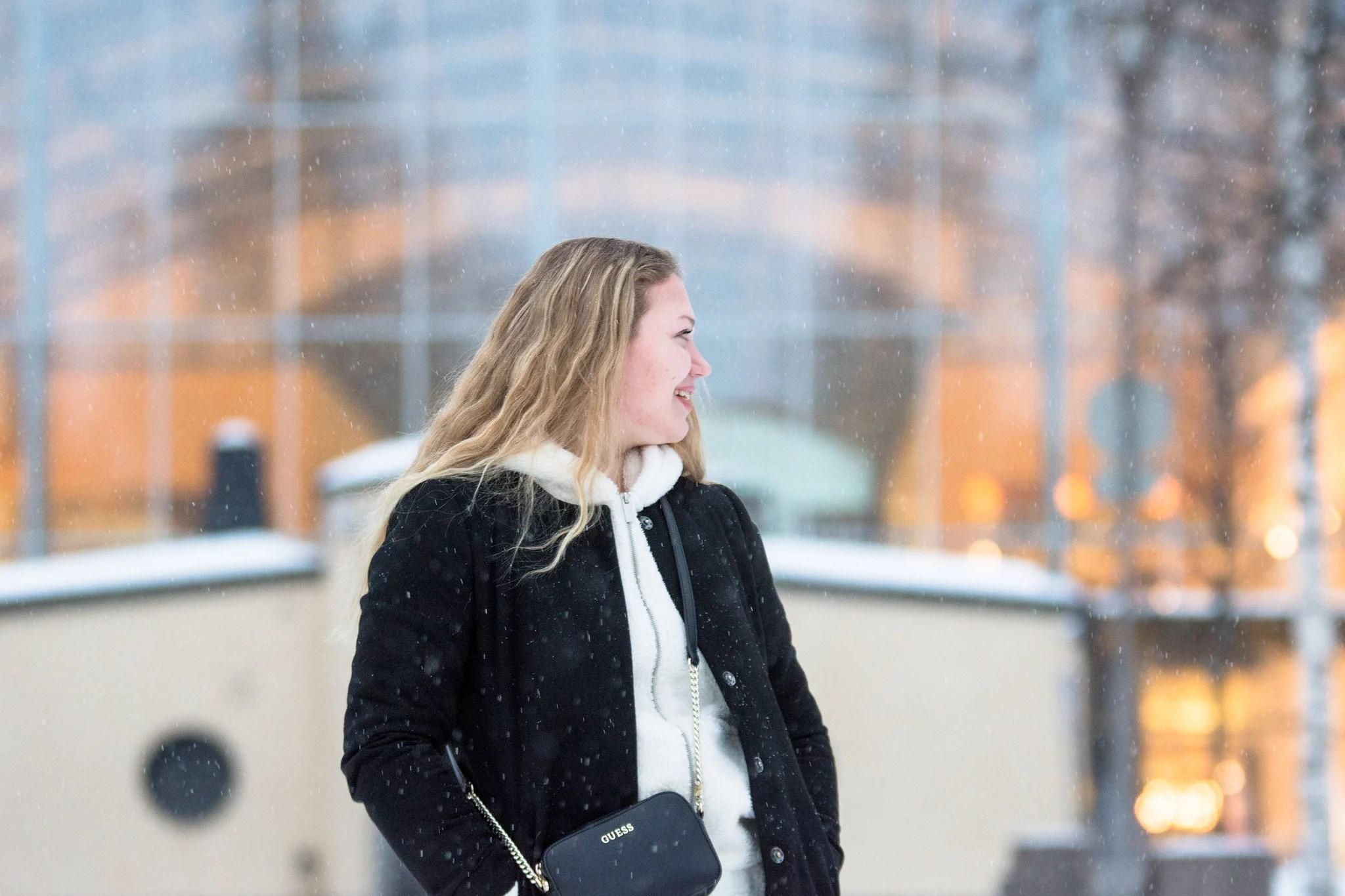 Snowy photoshoot