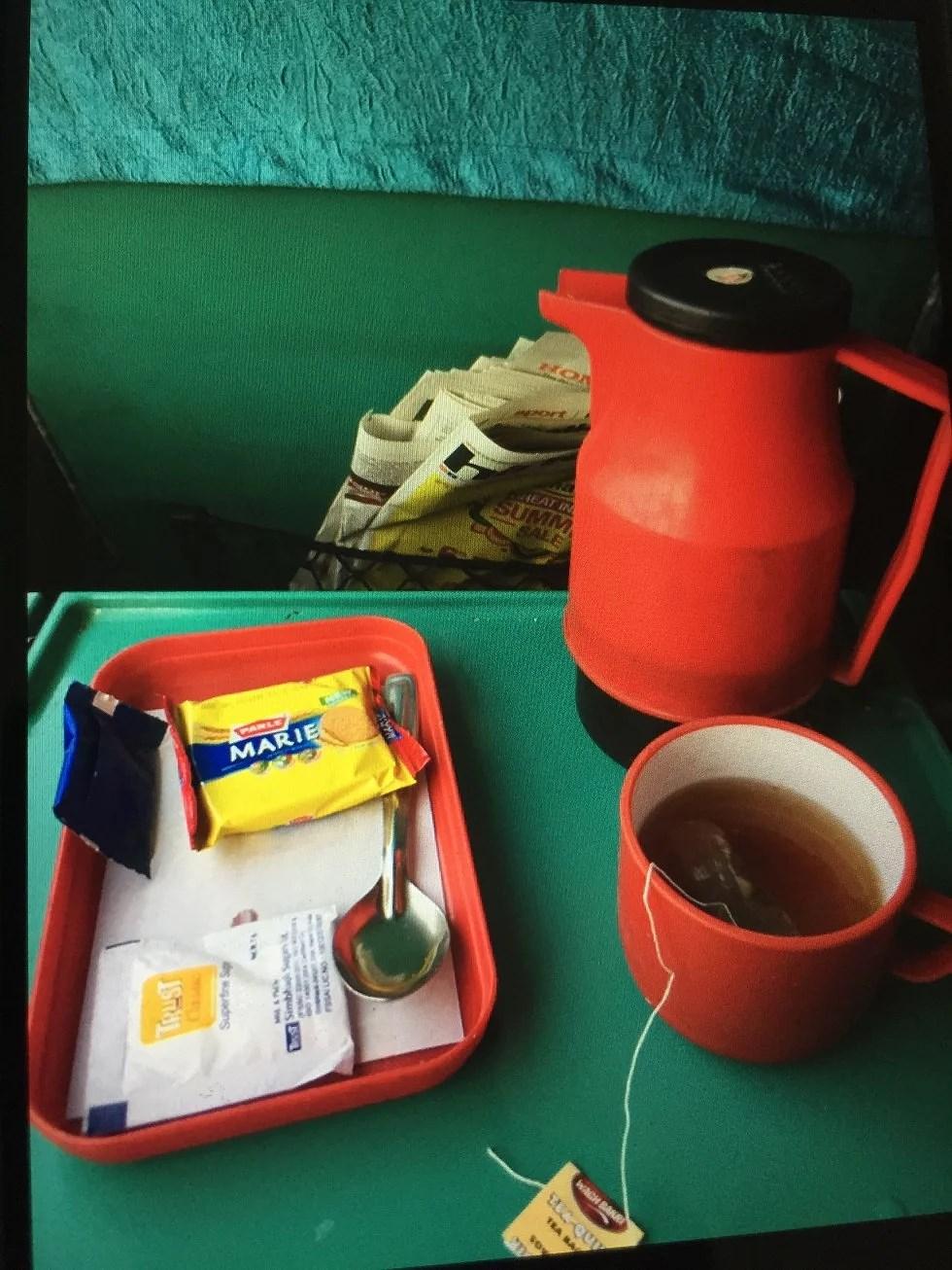 The og morgenmad på toget.