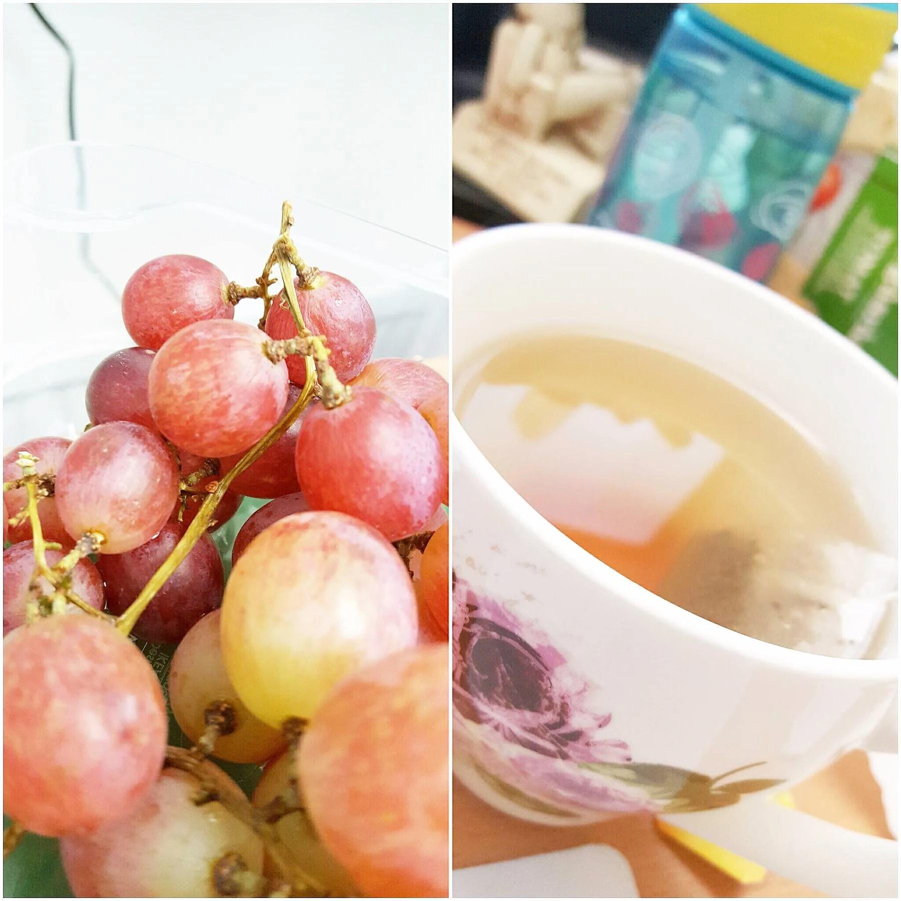 Druvor & te i väntan på bättre tider ; )