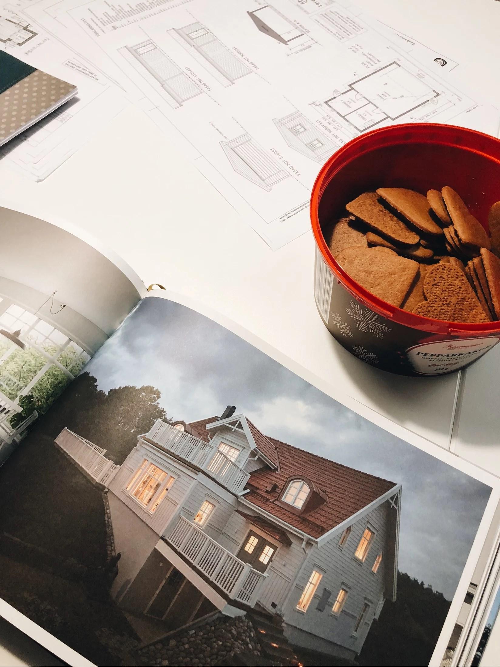 Planeringsmöte angående husbygget