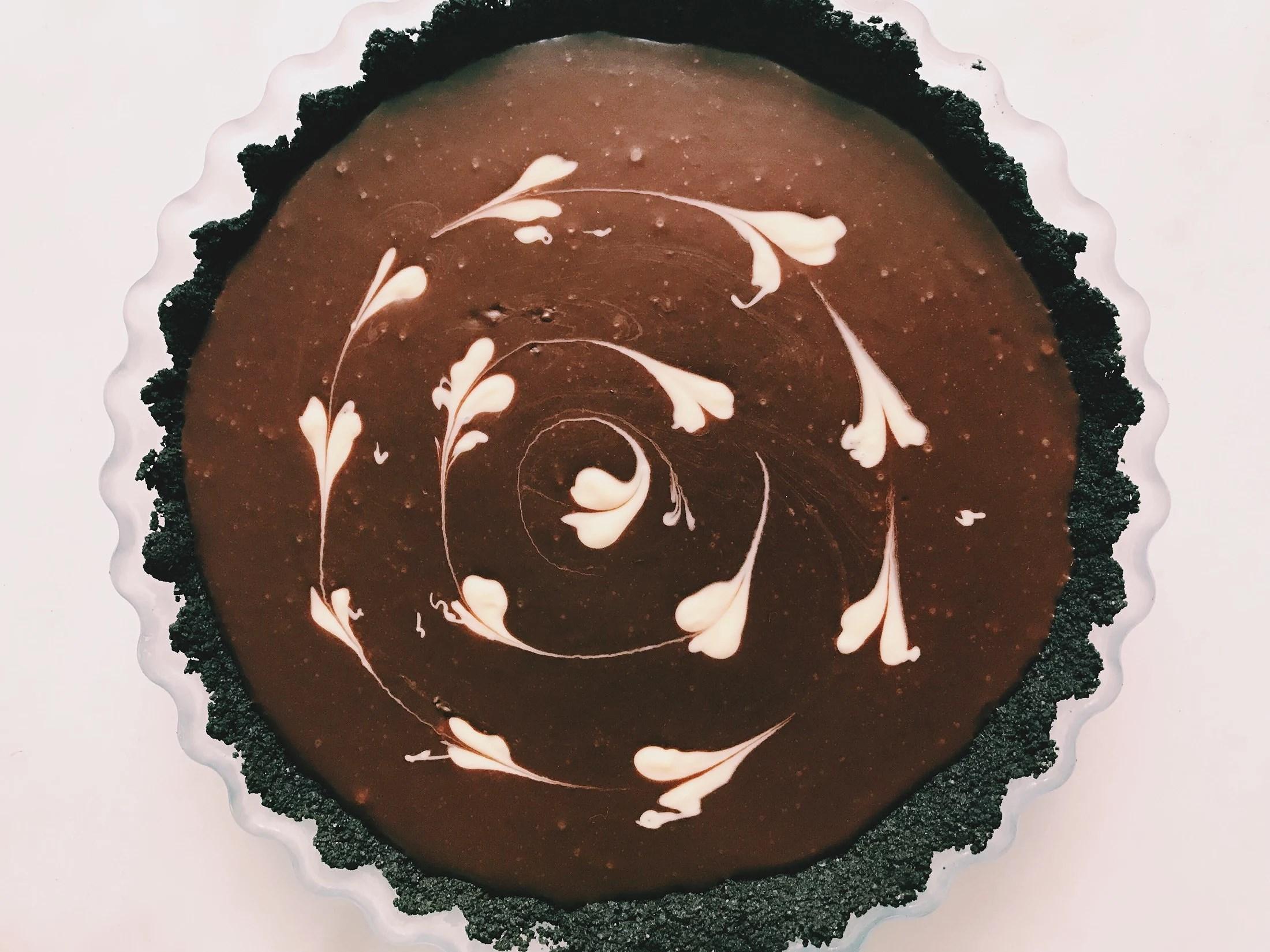 Chokladpaj med oreobotten