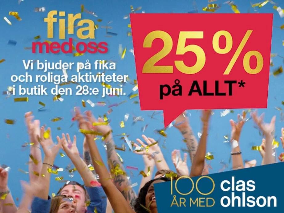 25% rabatt hos Clas Ohlson