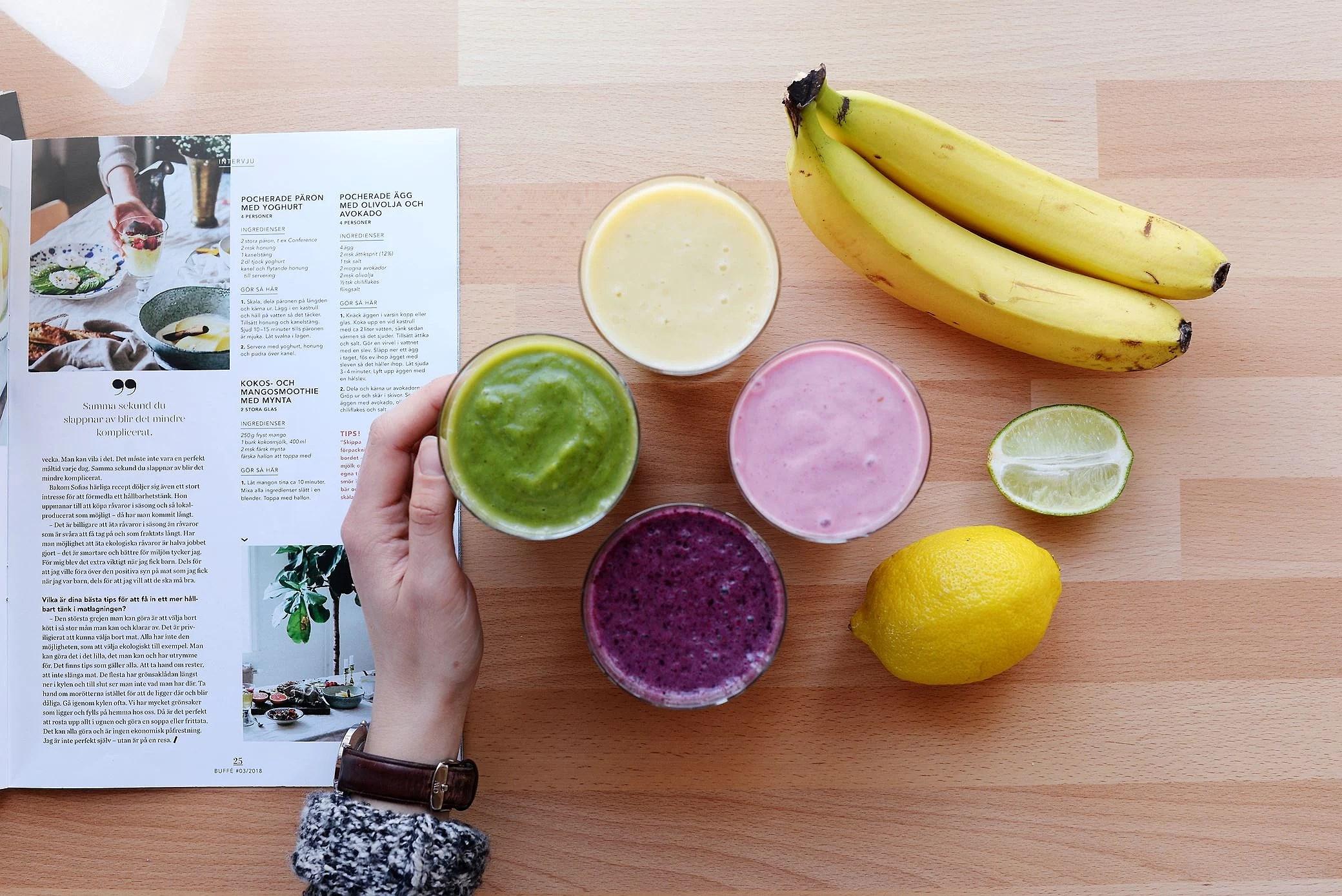 Recept på 4 nyttiga smoothies