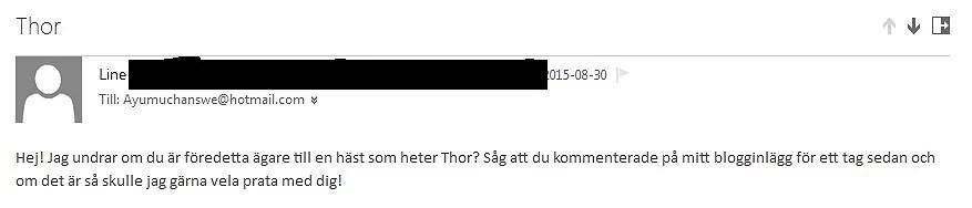 Ett litet annorlunda mail idag