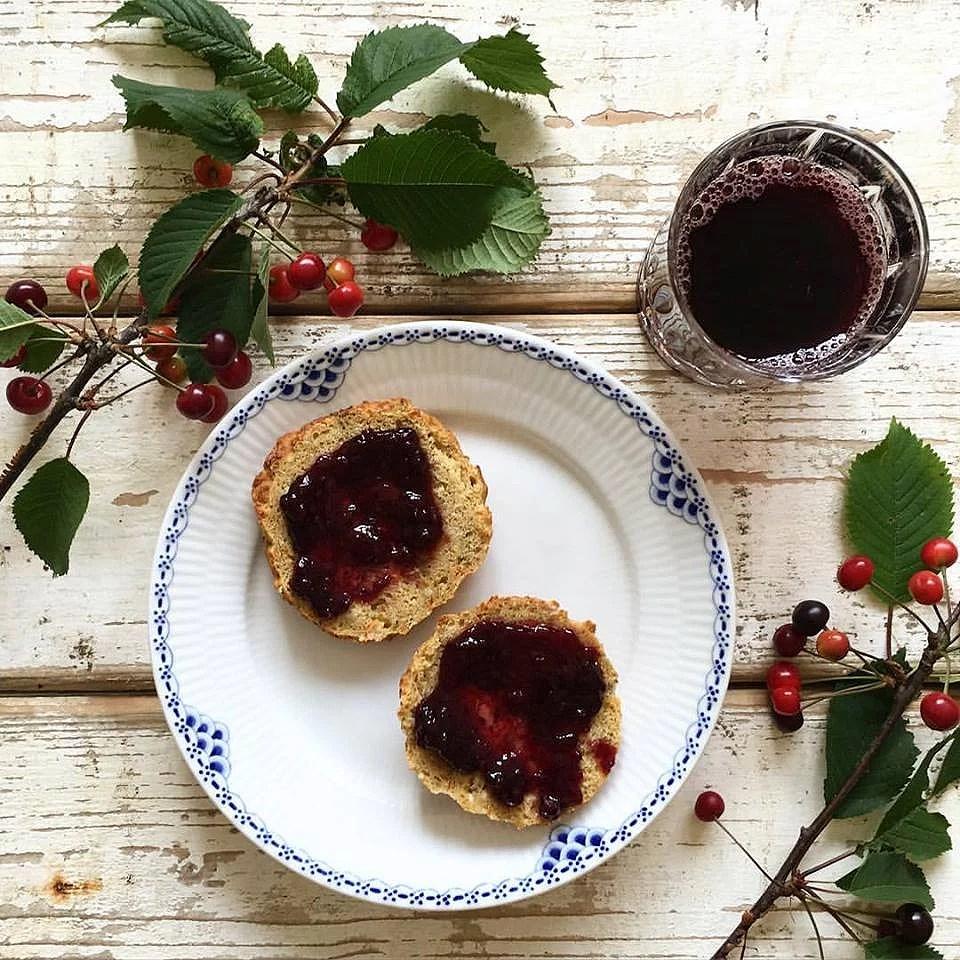 Aronia-blåbærsaft og -marmelade