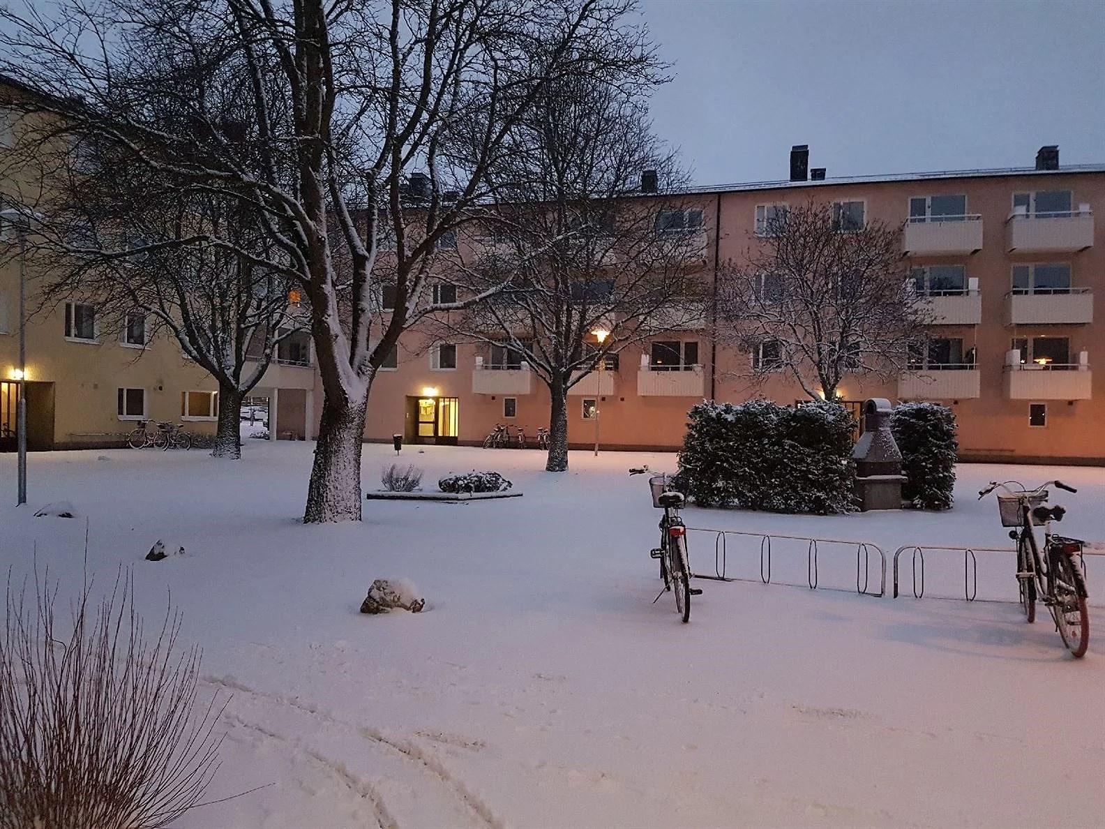Tänk vad lite snö kan göra