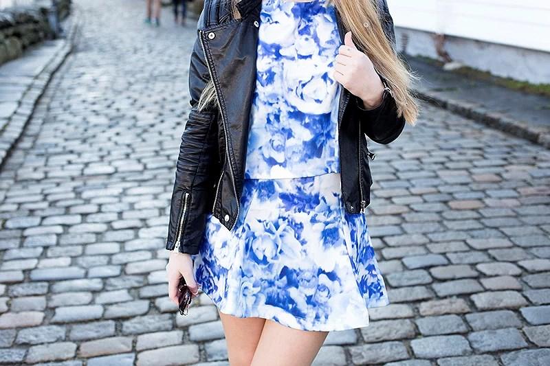 krist.in blue outfit bikbok floral