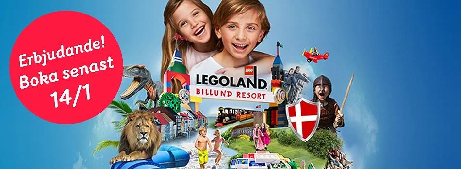Legoland- boka tidigt - sista chansen