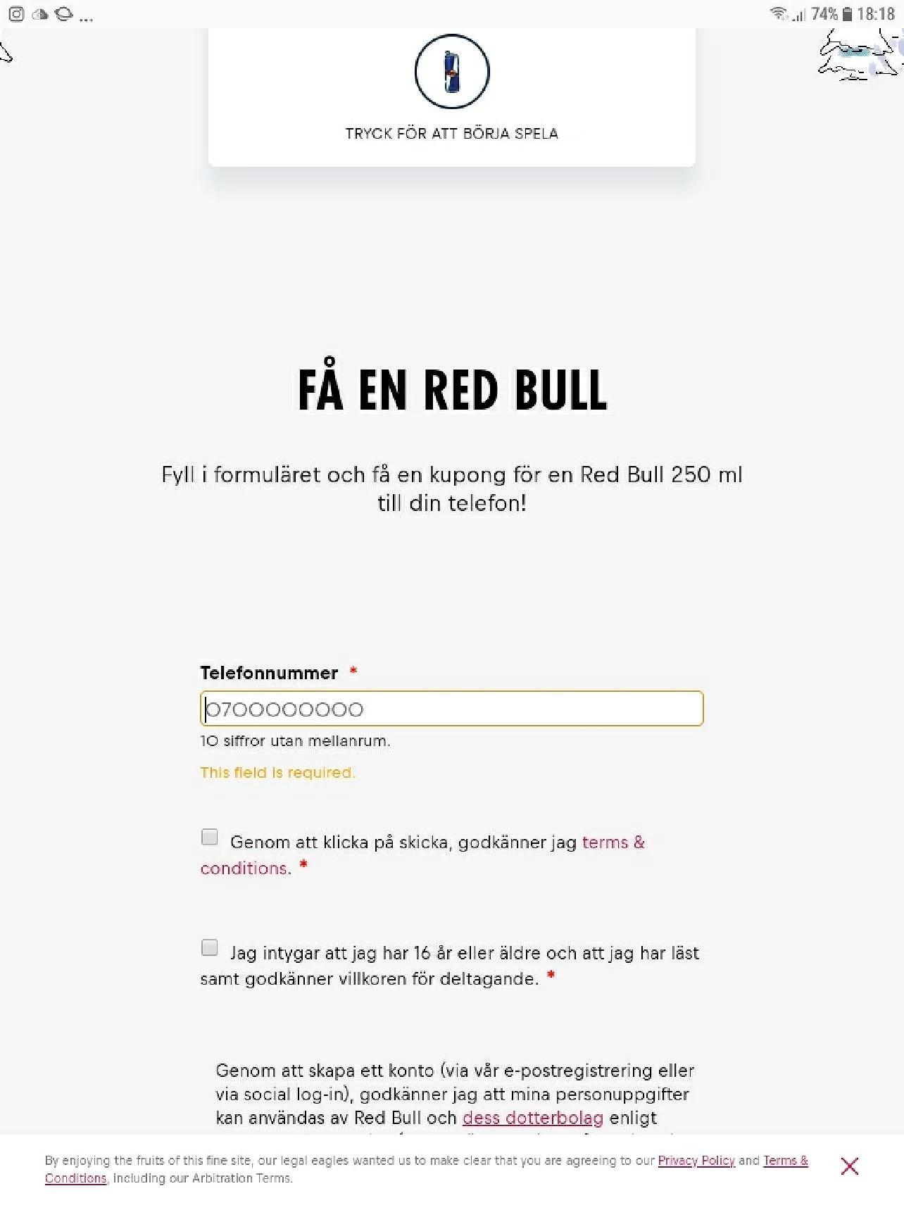 Gratis Red Bull