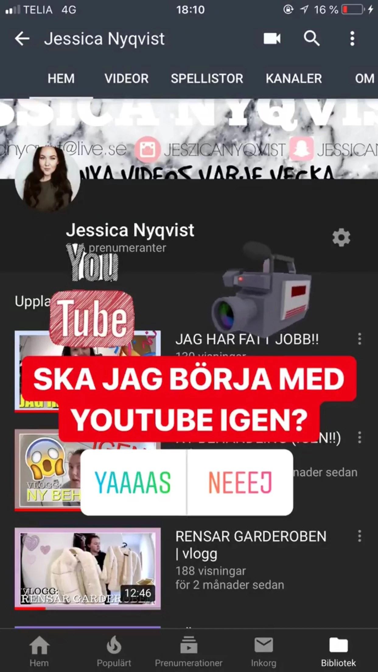 Ska jag börja med youtube igen?