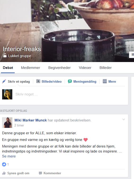 En Facebook gruppe for de rigtige freaks