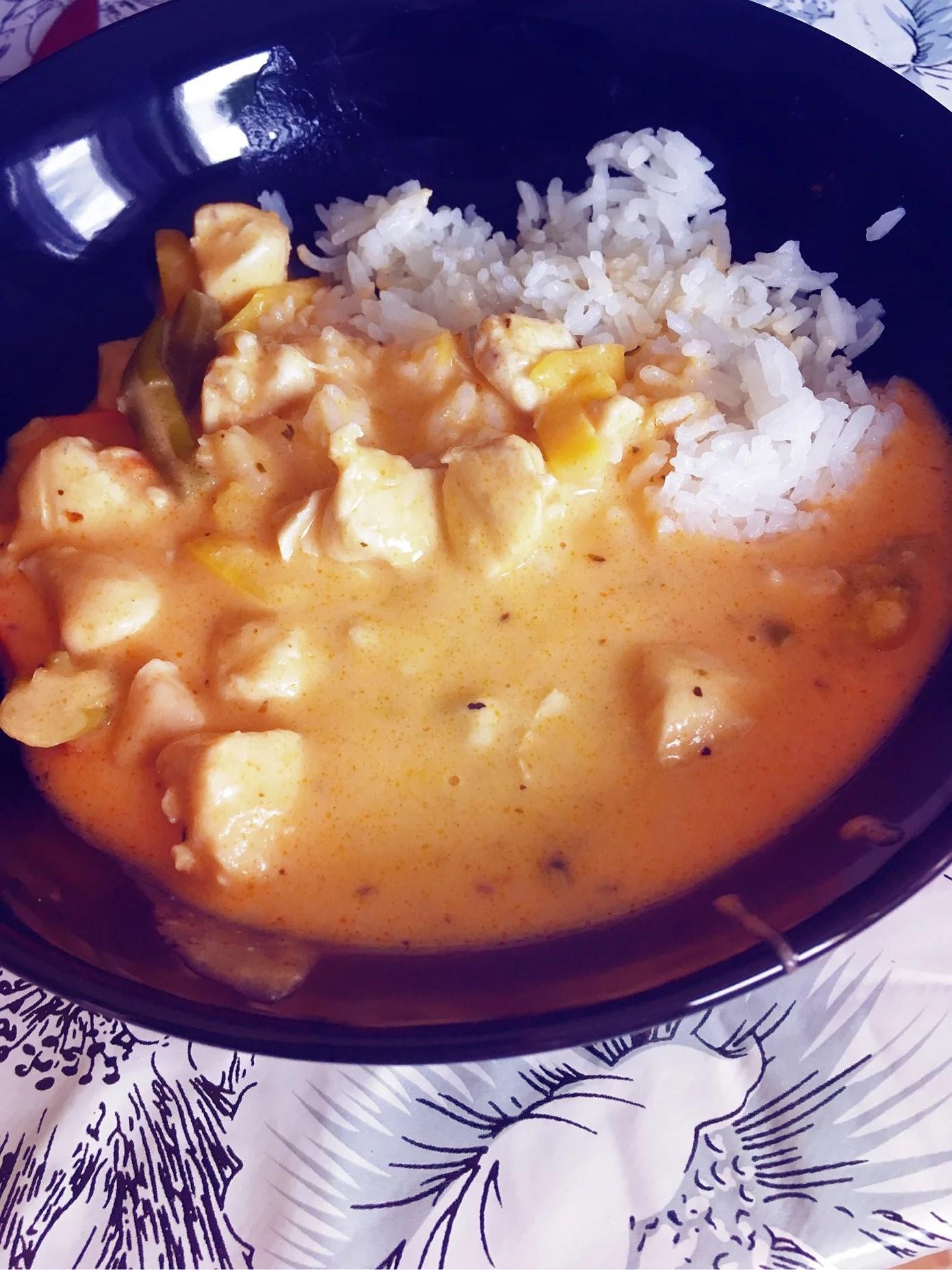 Kycklinggryta och ris