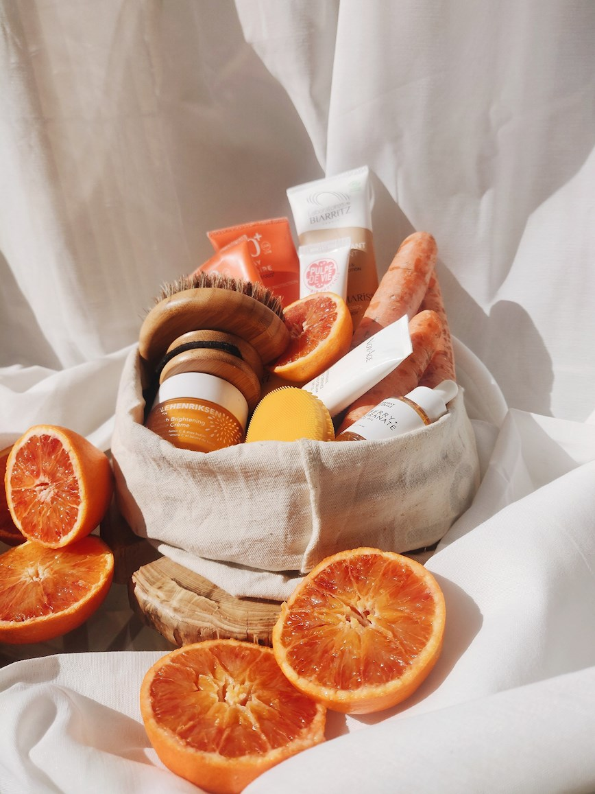 summer beauty essentials kit oranges and carrots
