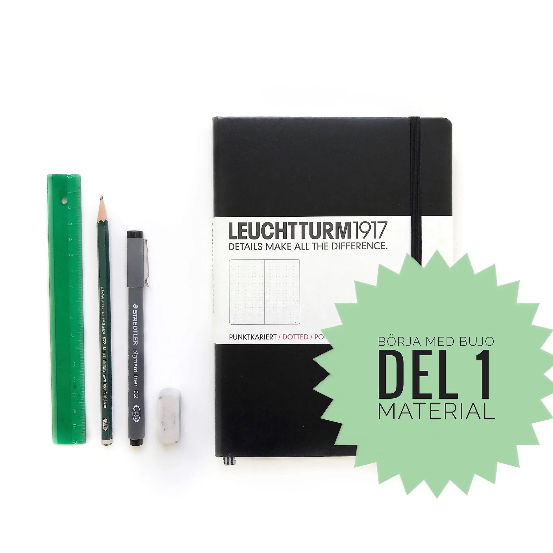 Börja med Bullet Journal, del 1 - Vad behöver du för material?