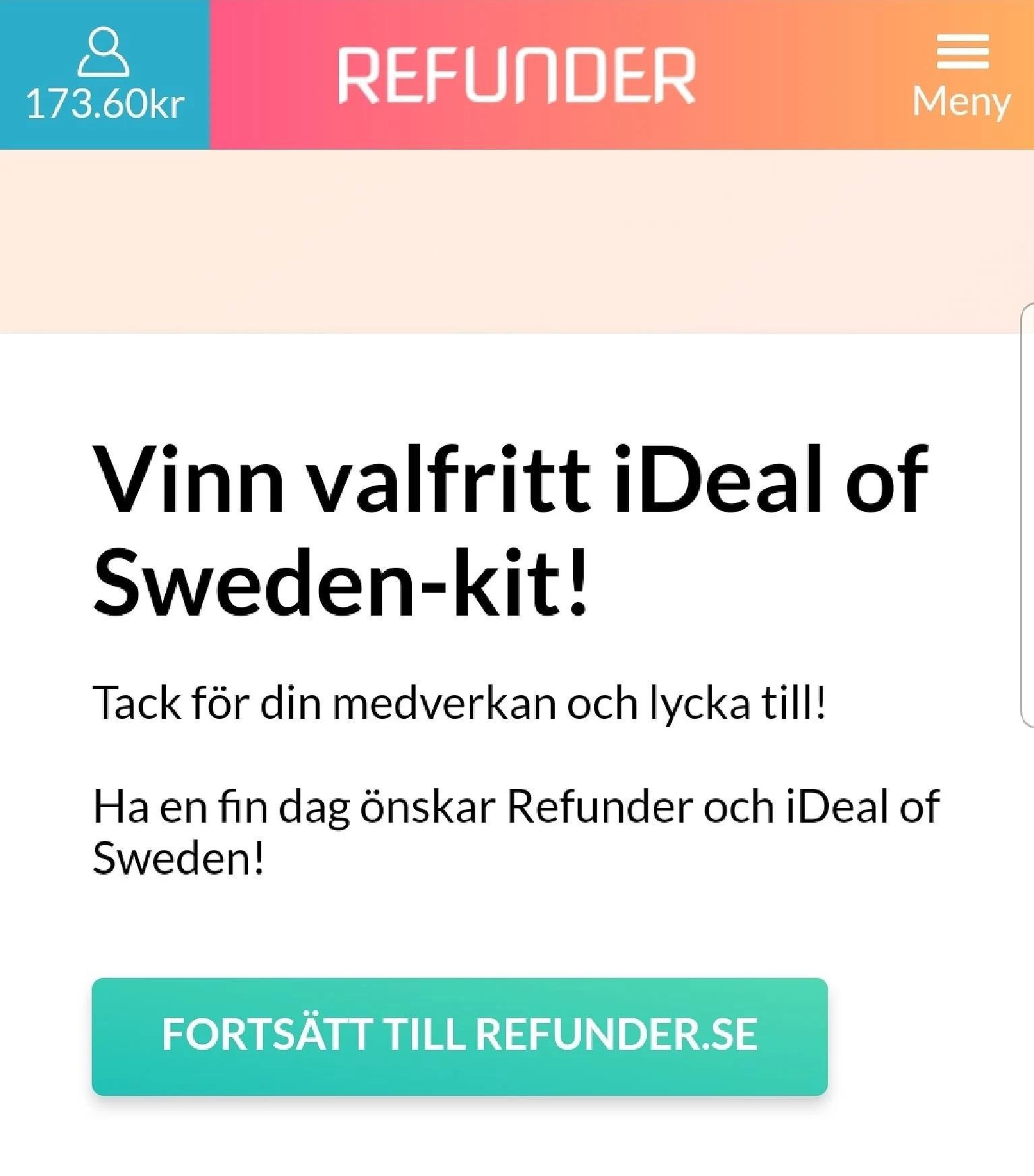 Vinn ett Ideal of Sweden kit...