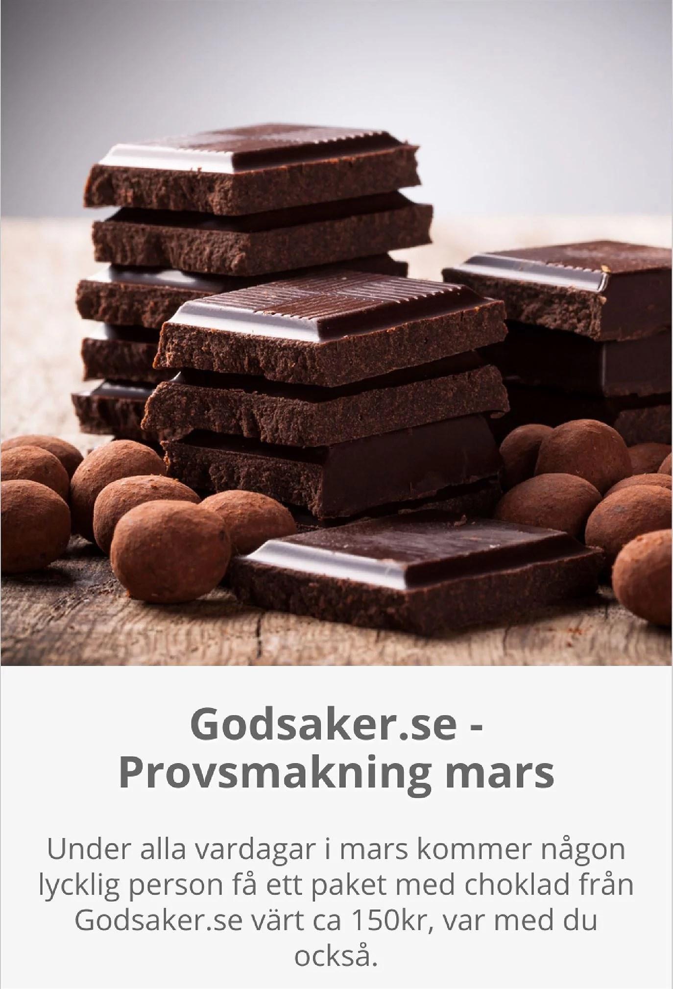 Varje vardag i mars kommer någon att få prova choklad för 150 kr
