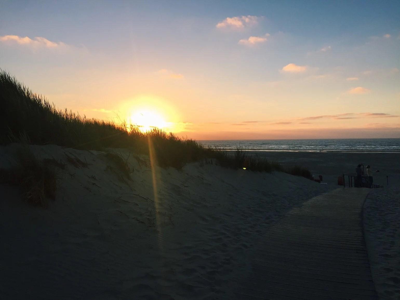 Juist beach sunset