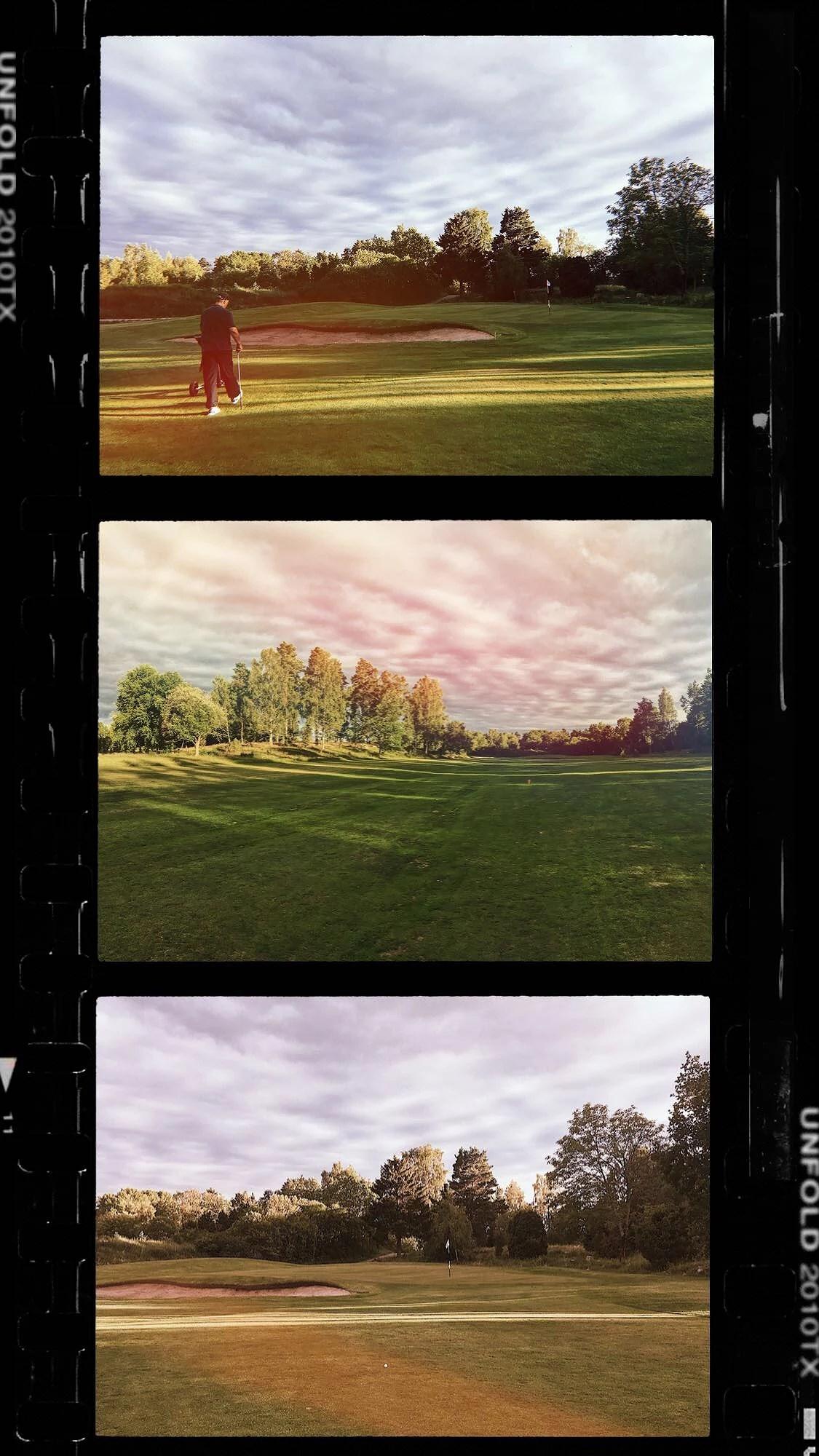 Skönheten i en golfbana