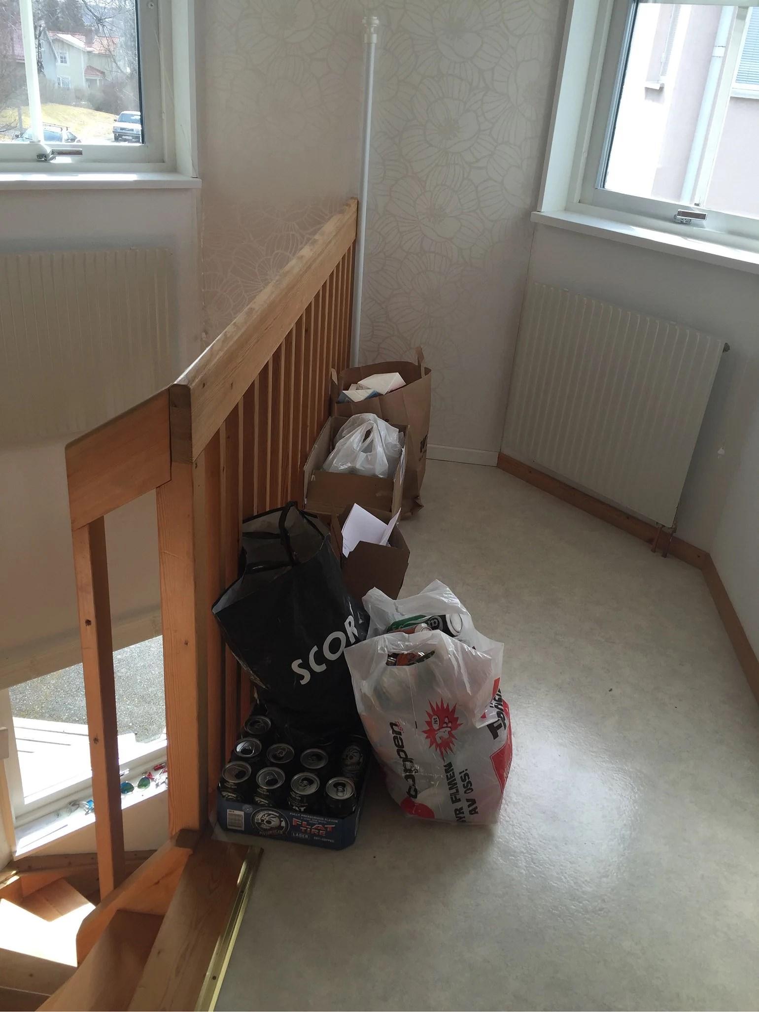 Städning av leggan