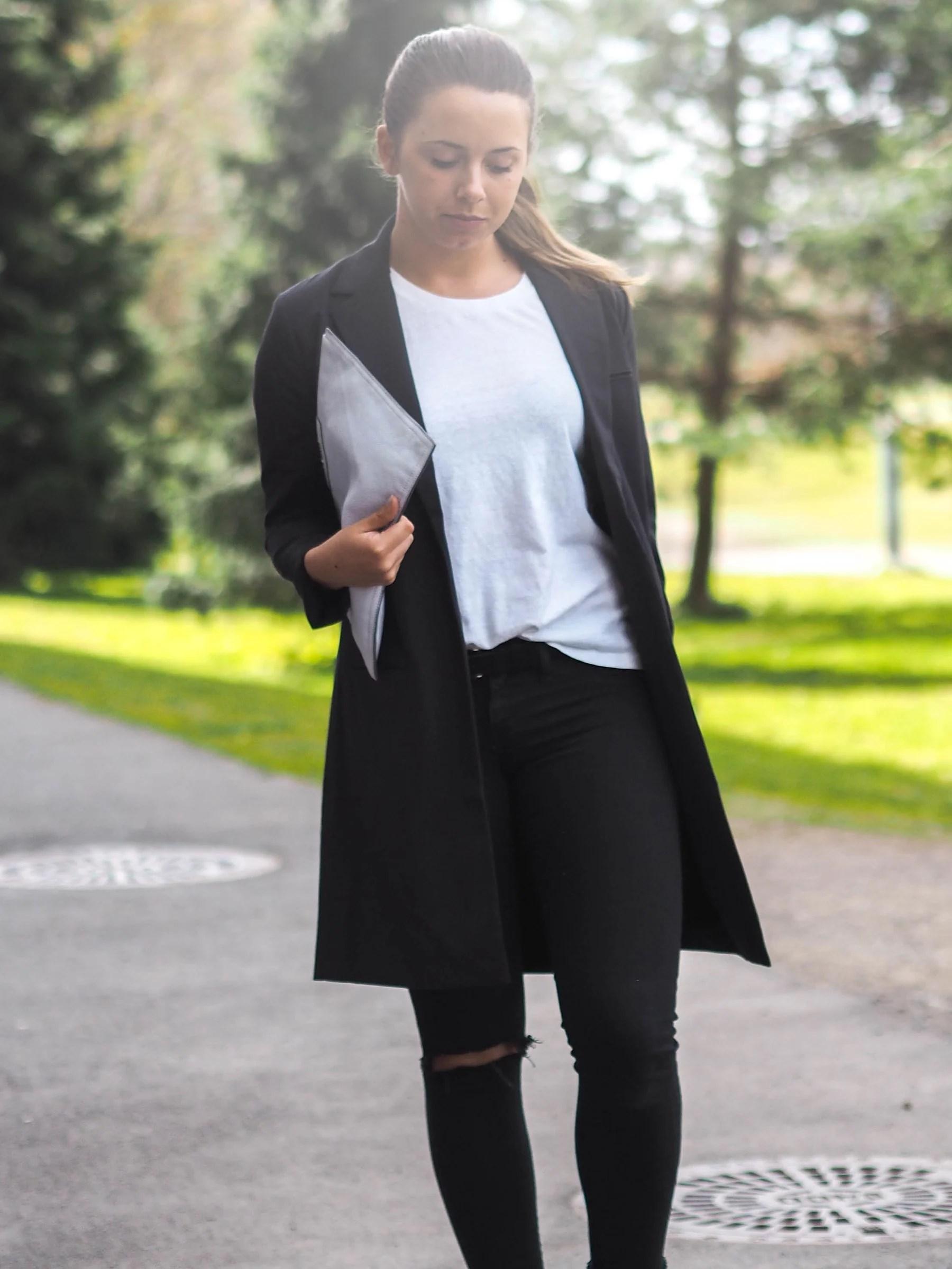 Pinstriped blazer