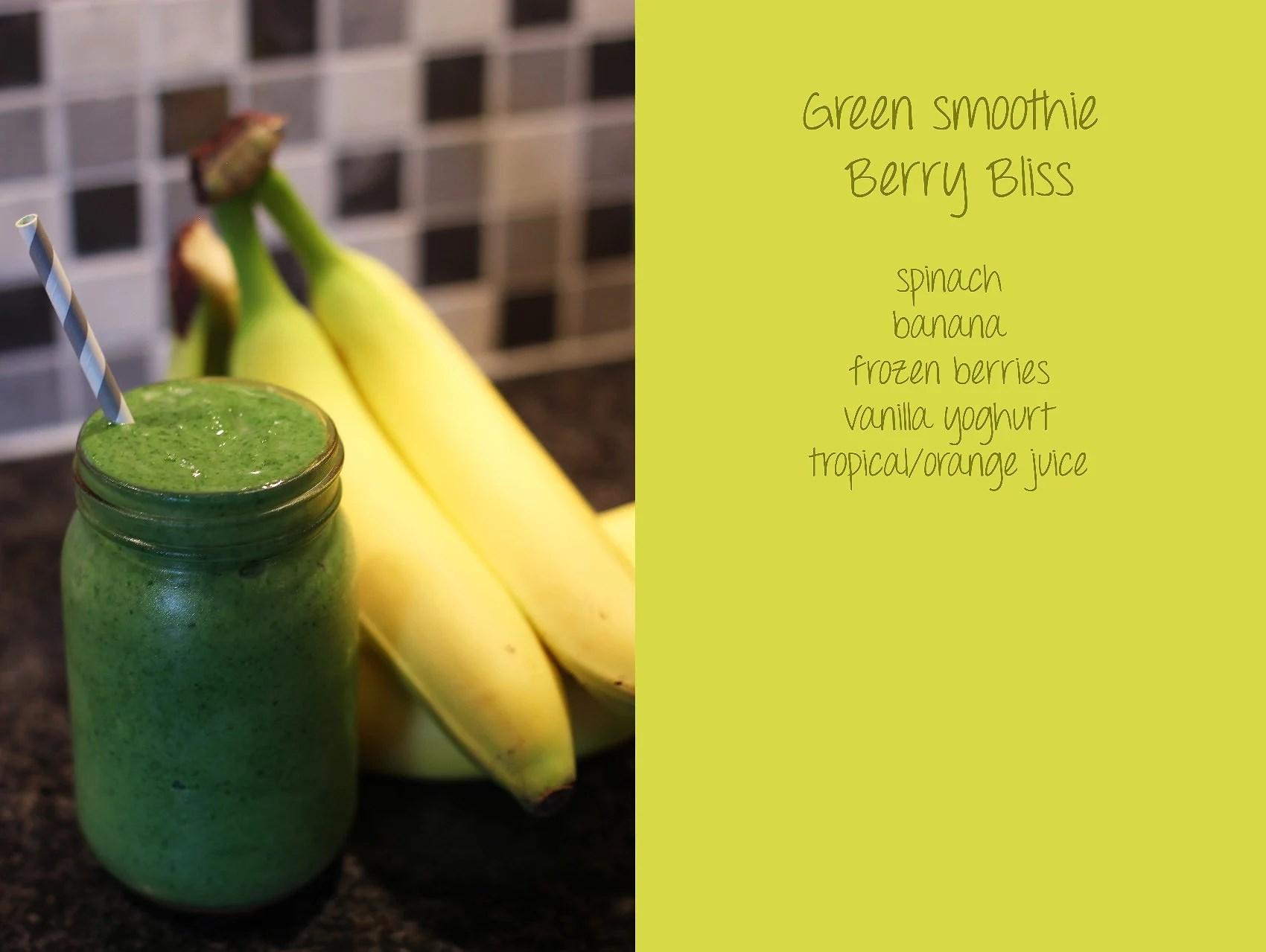 Recept på grön smoothie