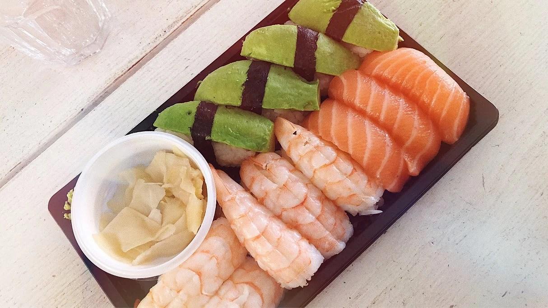 Sushi och övningskörning