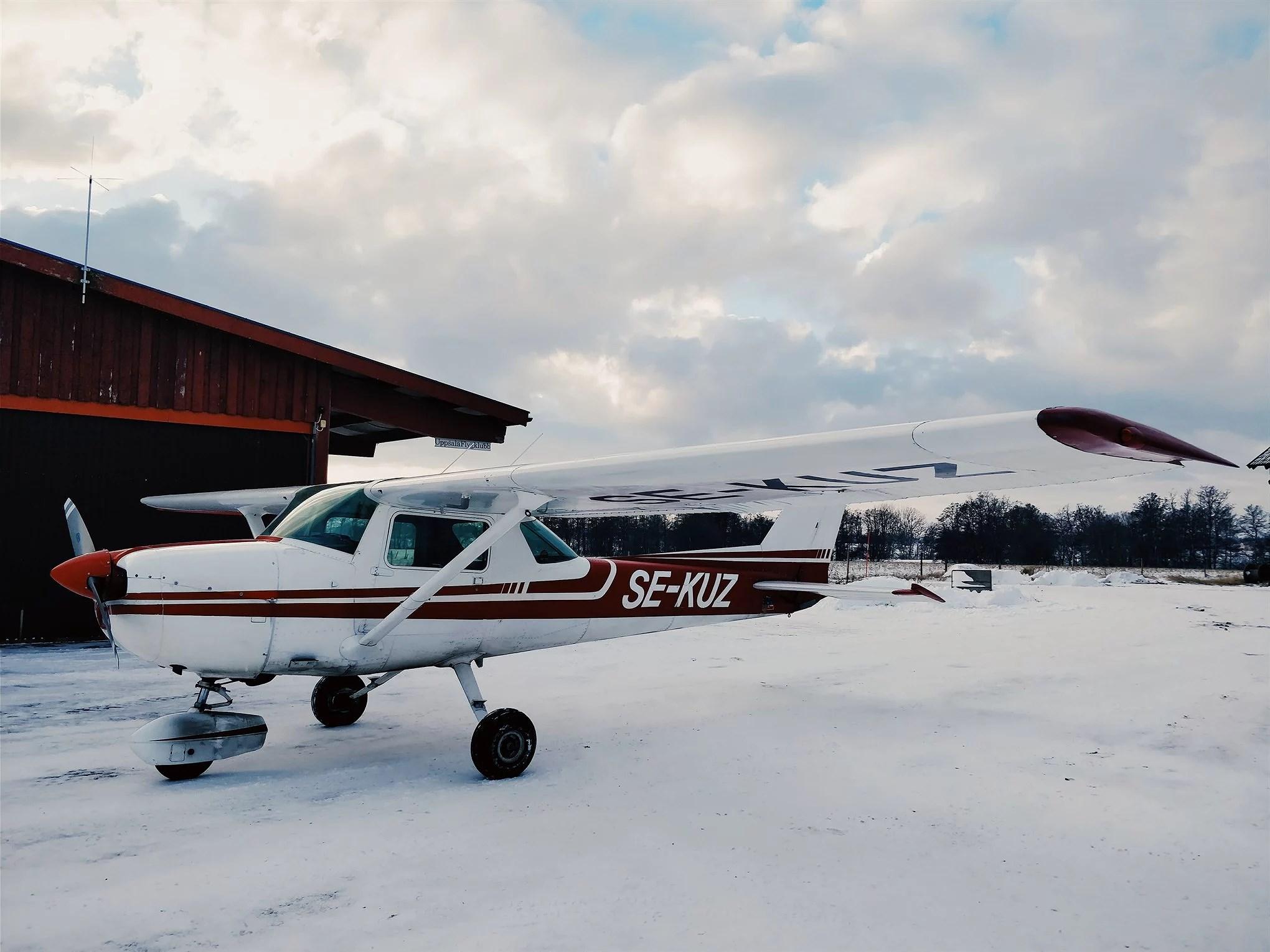 Min första flyglektion och lunchträning